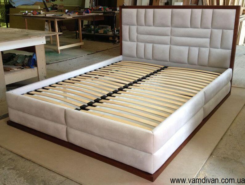 Кровать двуспальную с подъемным механизмом киев из ткани