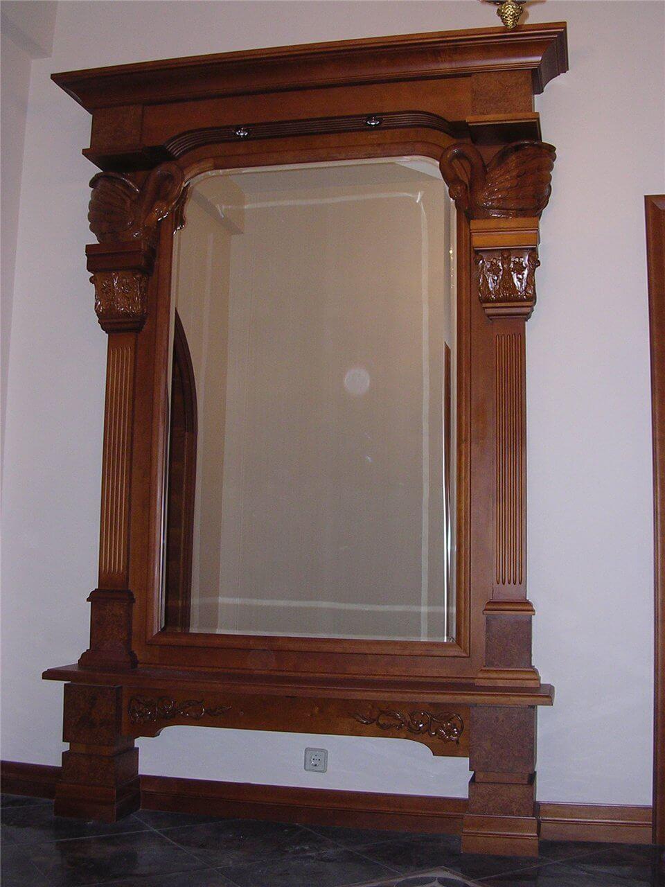 Зеркало из дерева своими руками 997
