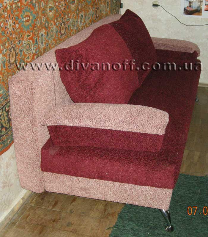 диван Никель в ткани томас бордово-розовый